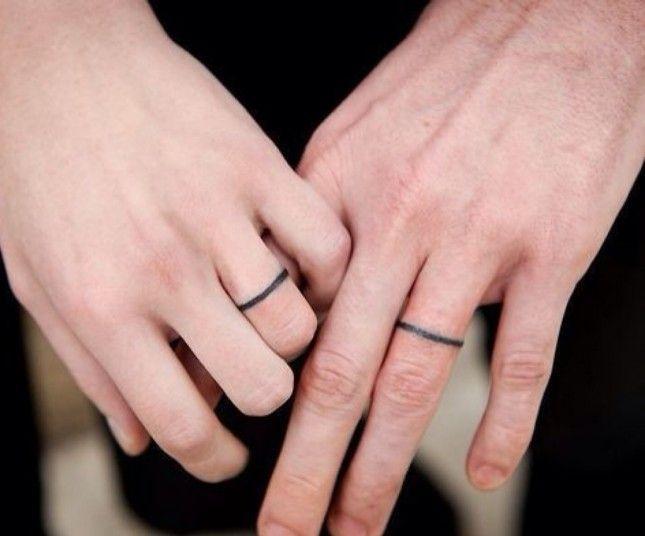 Simple Wedding Ring Tattoos Wedding Band Tattoo Wedding