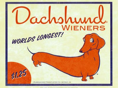 Dachshund Wieners Konsttryck