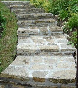 Comment Realiser Soi Meme Un Escalier En Pierre Escalier En Pierre Escalier De Jardin Marches Jardin