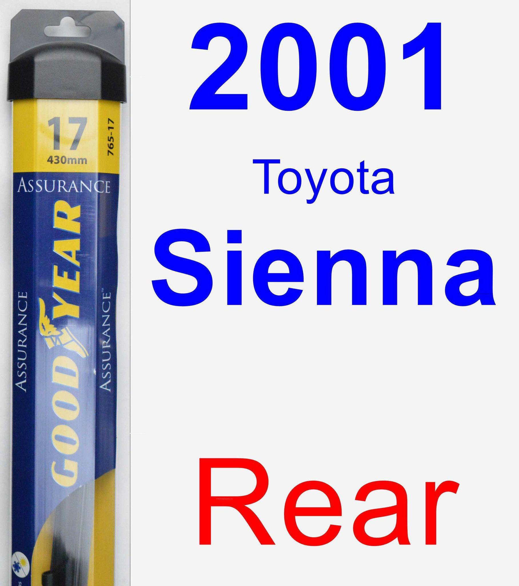 Rear wiper blade for 2001 toyota sienna assurance