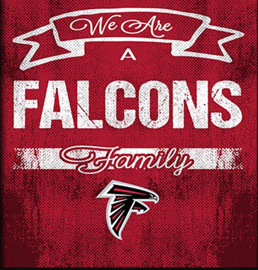 Atlanta Falcons Family Cheer Framed Art Falcons Atlanta Falcons