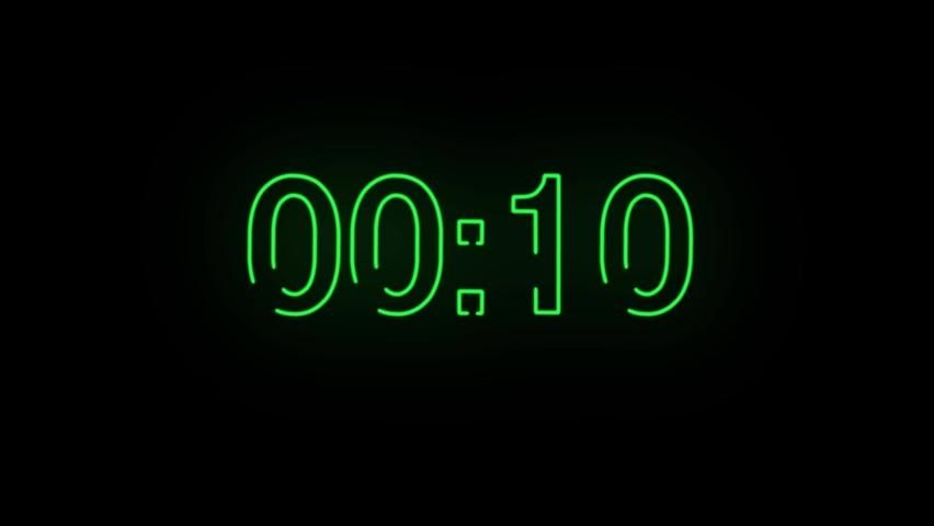 Animation Seamless Background Neon Numbers Stock Footage Video