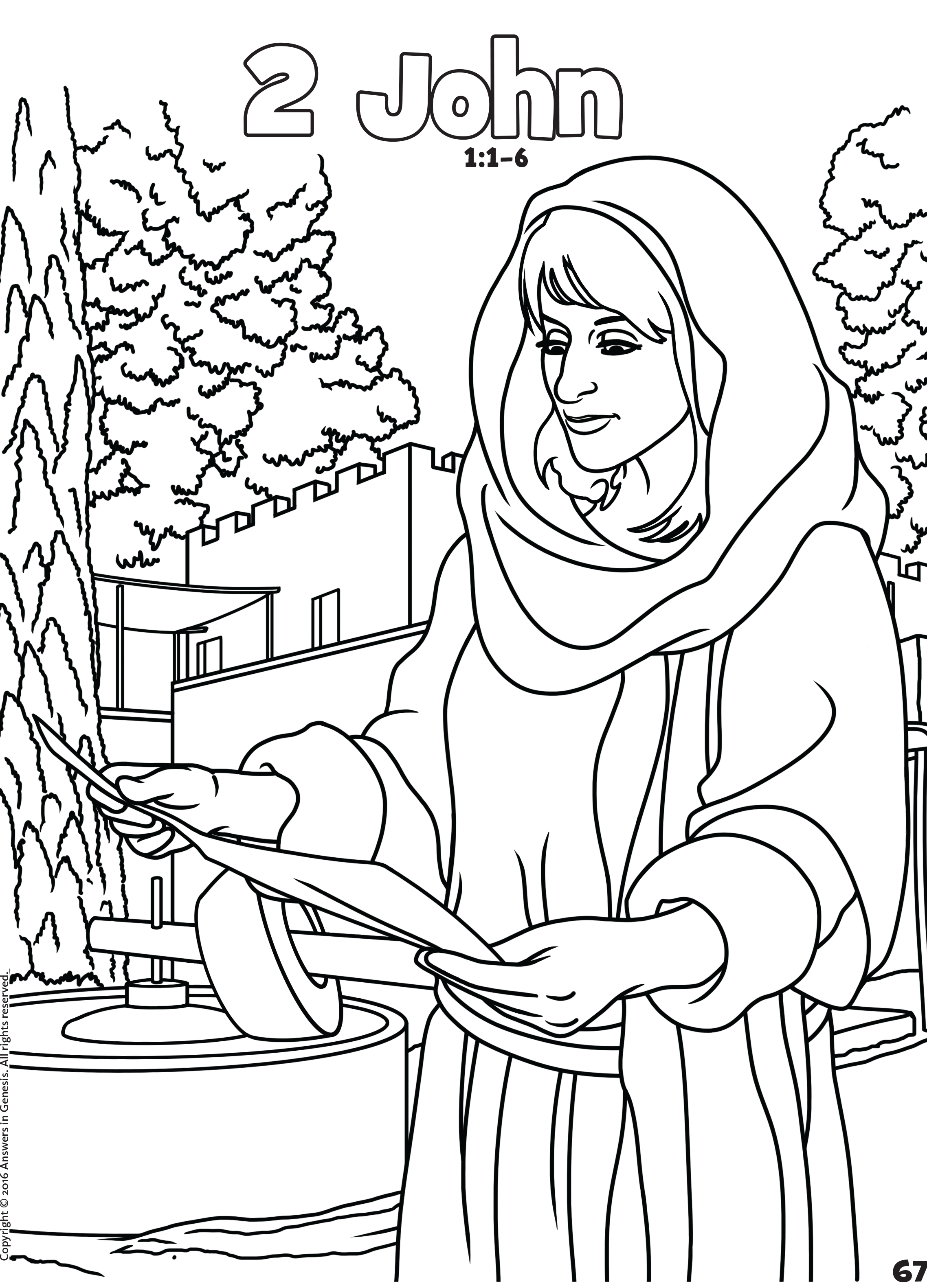 2 John Free Bible book coloring pages in .pdf format