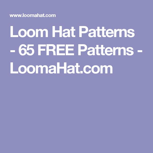 Loom Hat Patterns 65 Free Patterns Loomahat Loom Patterns