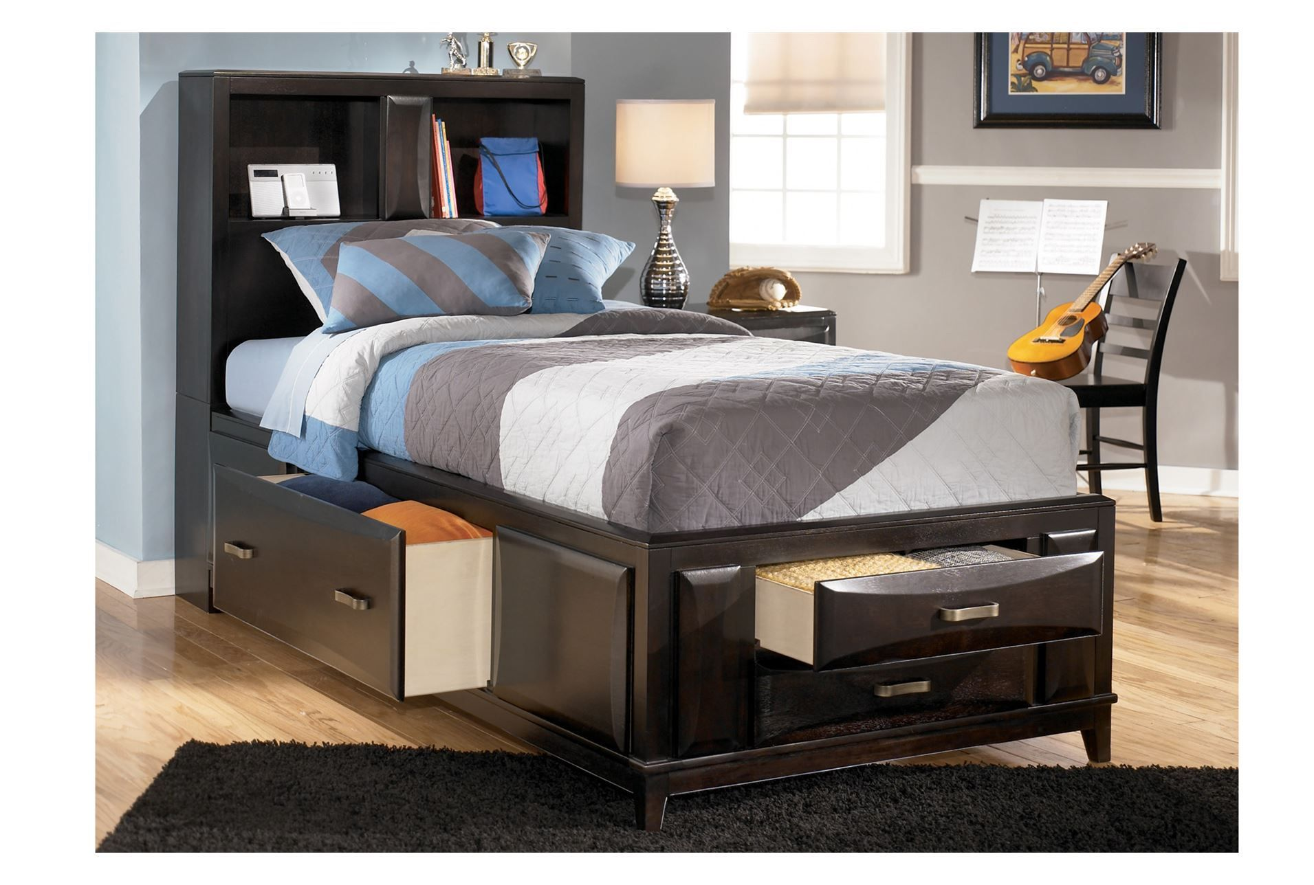 Double Bed For Kaden With Trundle Ashley Furniture Panel Bed