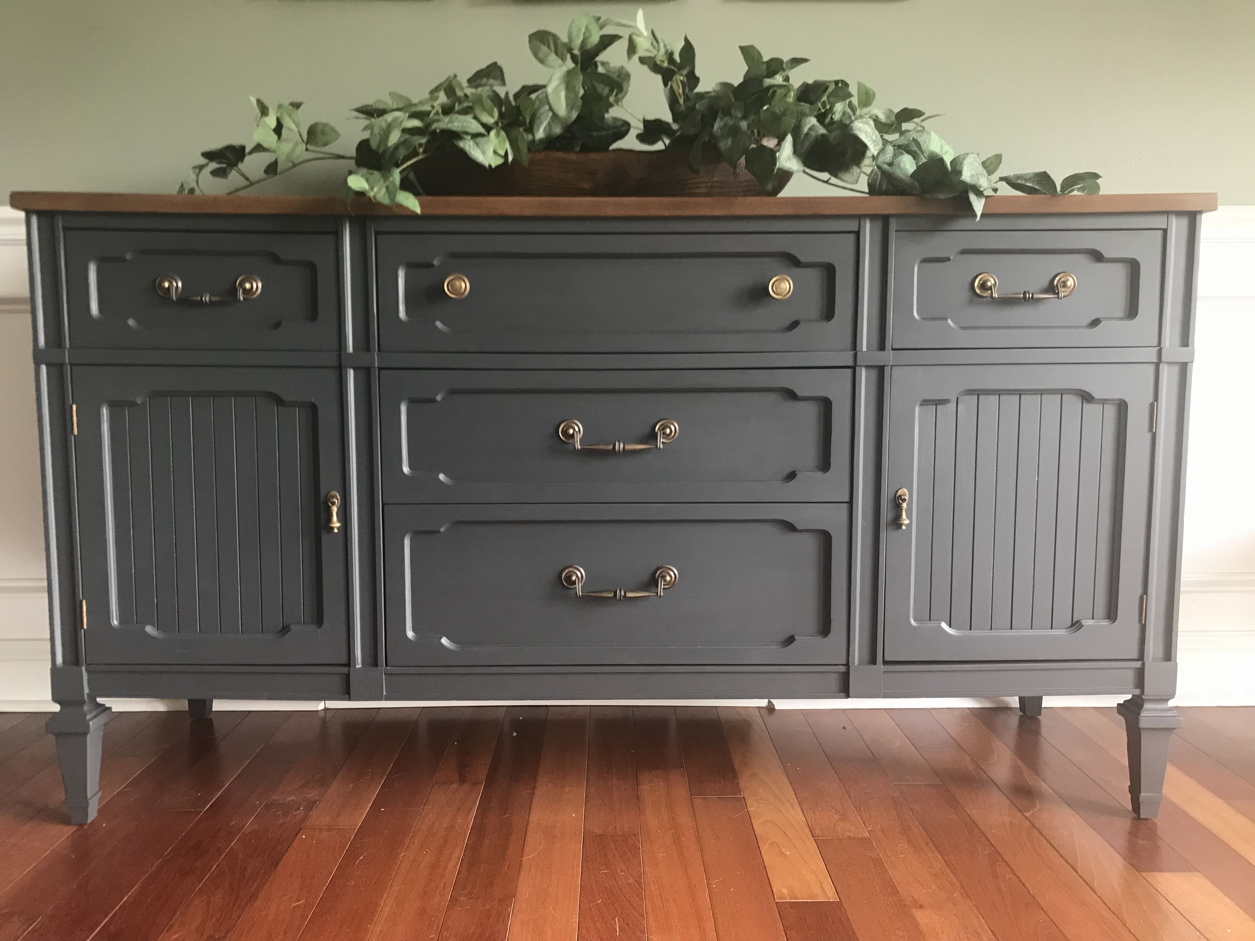 Buffet Redone In Fusion Mineral Paint S Ash In 2019