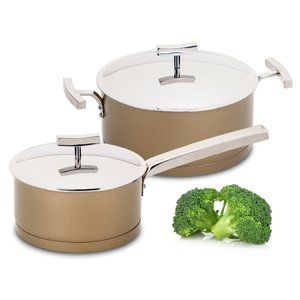 Louça para cozinhar / Cookware Square Gold.