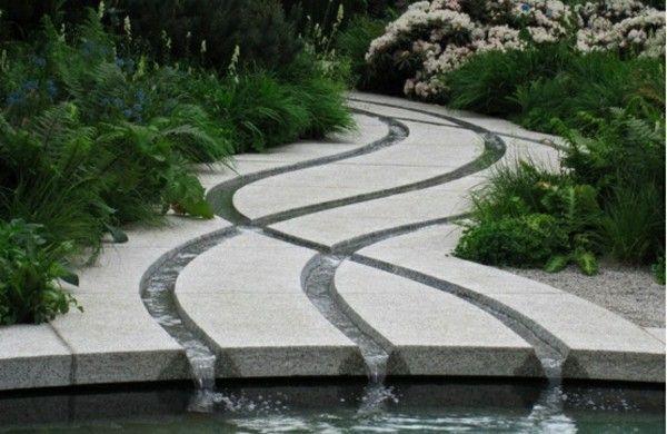 garten dekoideen wasserfall betonboden Garten Pinterest Gardens