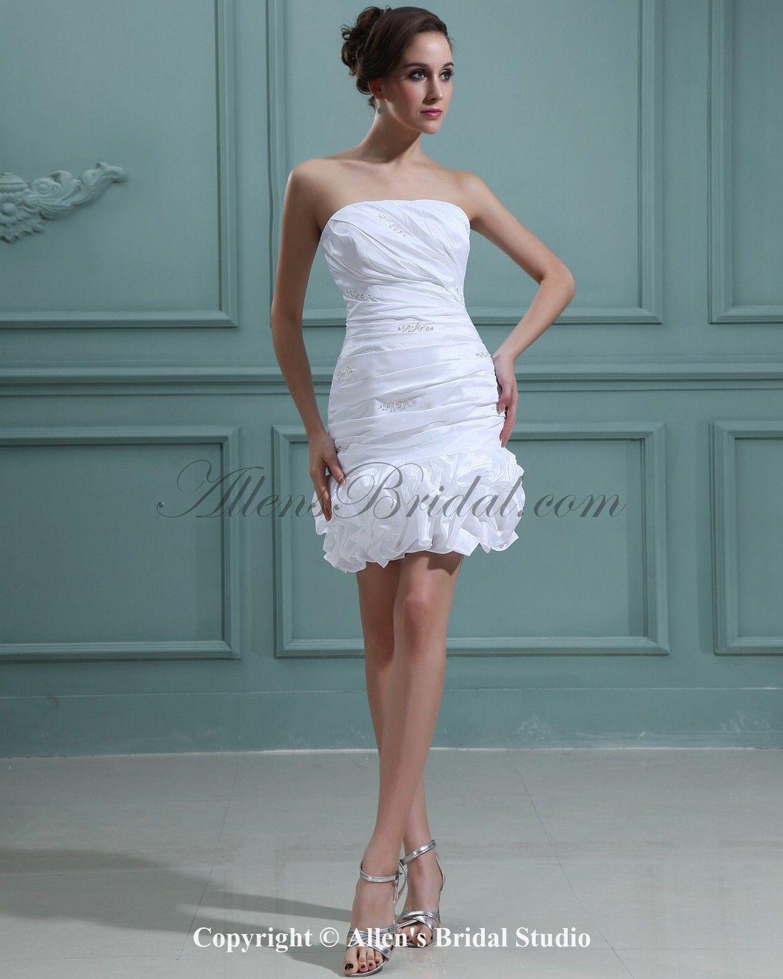 > Wedding Dresses > Short Wedding Dresses > Taffeta Strapless Short ...