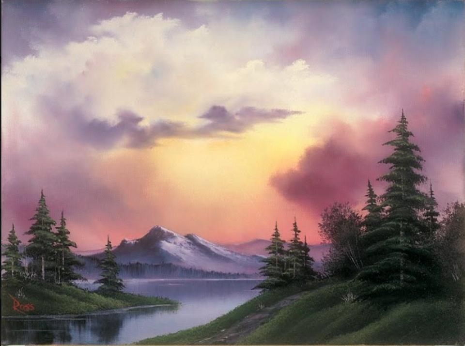 A Rare Exhibit Of Kitsch Landscapes By Tv Artist Bob Ross Reveals The Unrecognized Genius Of The Joy Of Painting Bob Ross Art Bob Ross Paintings Bob Ross