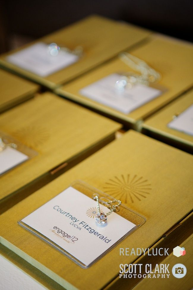 custom silk portfolio boxes for all registration materials created for #engage12 by The Boutique at Cypress (Cypress Albums)