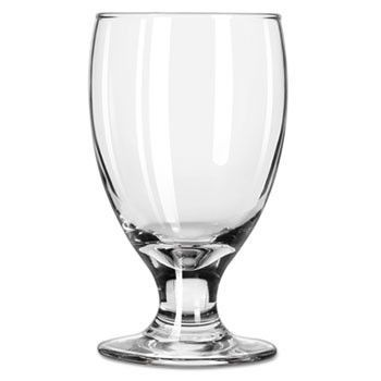 "Embassy Footed Drink Glasses, Banquet Goblet, 10.5oz, 5 1/4"" Tall"