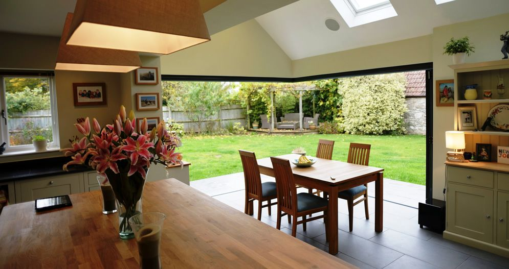 Bi Fold Doors Corner Post With Blinds