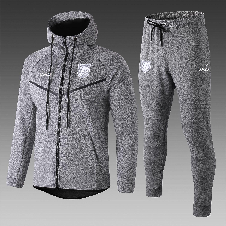 201819 men england gray long sleeve adult soccer hoodie