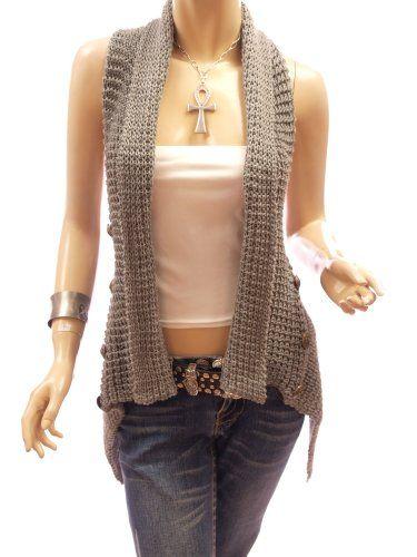 unique sweaters and cardigans: Patty Women Unique Crochet Asym Hem ...
