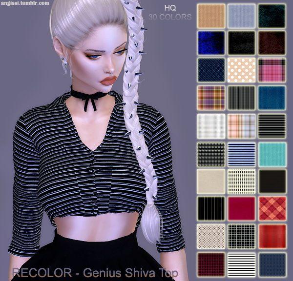 Genius Shiva top recolors at Angissi • Sims 4 Updates
