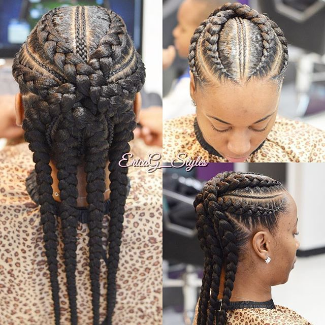 Braids With Back Knot Bun Natural Hair Updo Natural Hair Styles Hair Videos