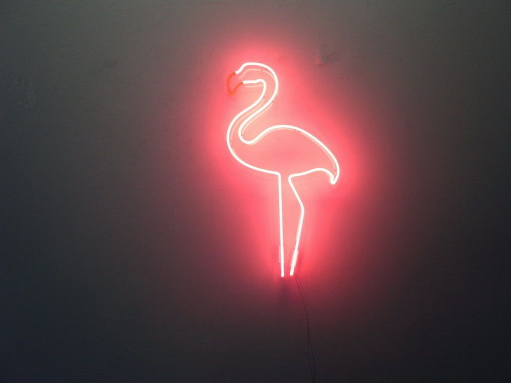 New Pink Flamingo Neon Art Sign Handmade Visual Artwork Wall Decor