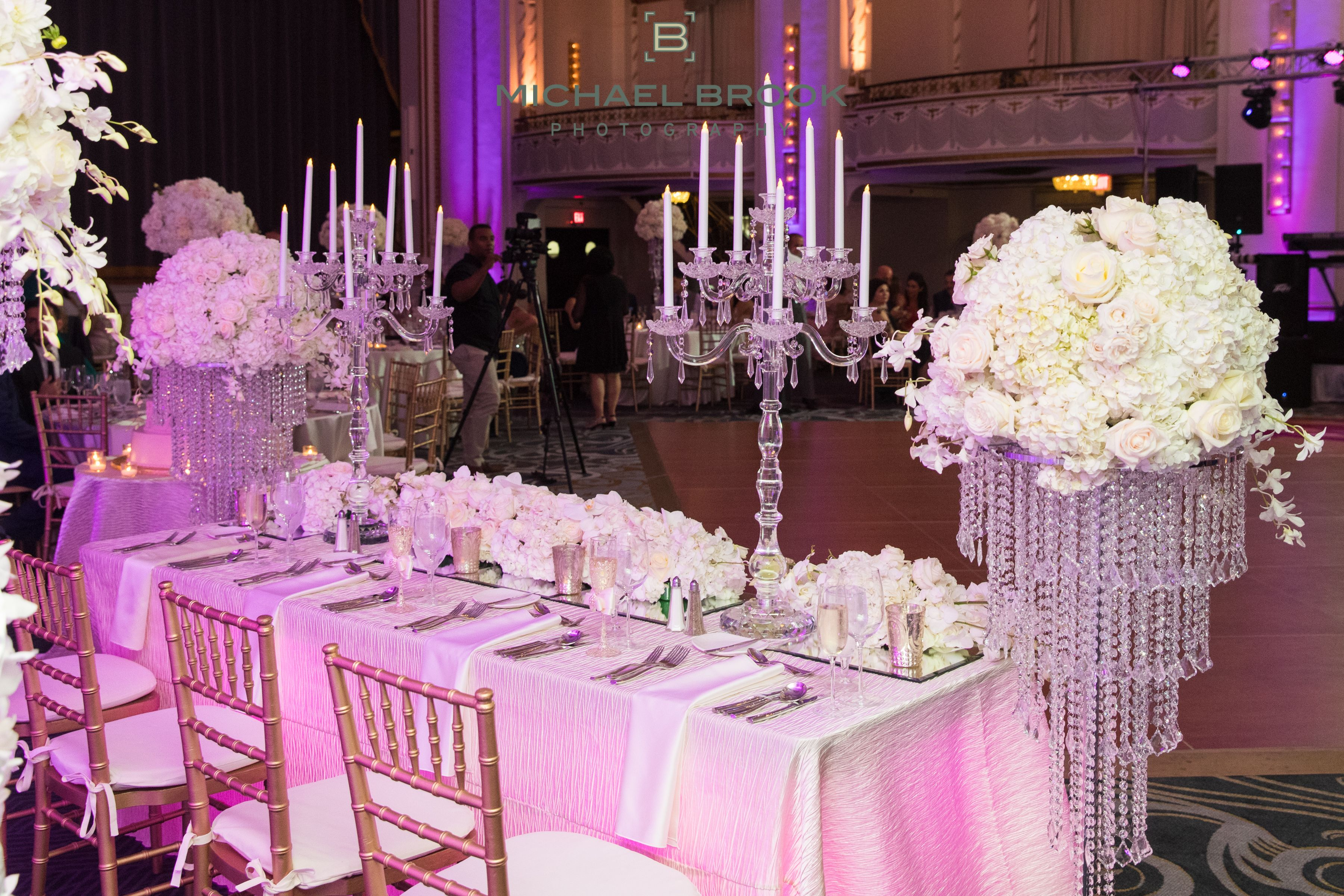 White And Pink Wedding Reception Decor Michael Brook Photography