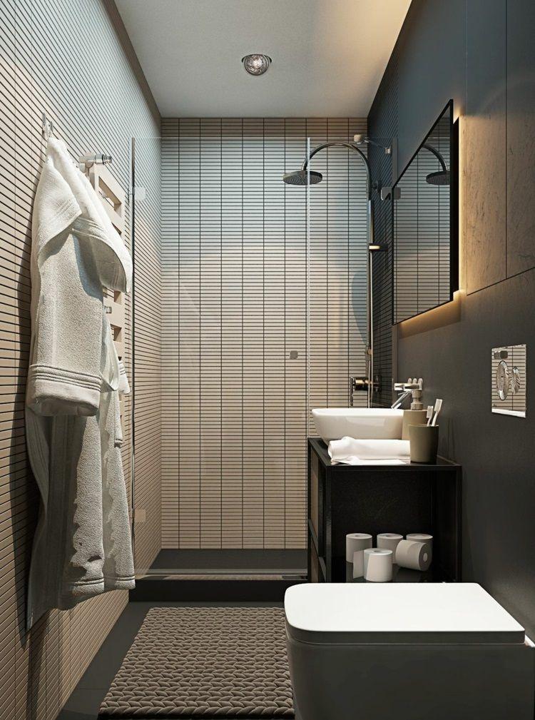 Ba os peque os modernos y decorados 90 im genes for Banos modernos para espacios pequenos