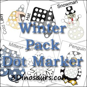 free winter pack extra dot markers kid blogger network activities crafts. Black Bedroom Furniture Sets. Home Design Ideas