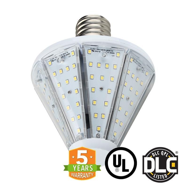 30w Led Corn Bulb Post Top Top Socket Mogul Base E39 Ul Dlc In 2020 Bulb Led Sockets