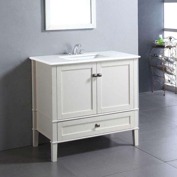 Www Wayfair Com Simpli Home Chelsea 36 Single Bathroom Vanity Set Qsi1012 Html Single Bathroom Vanity Bathroom Vanity Simpli Home