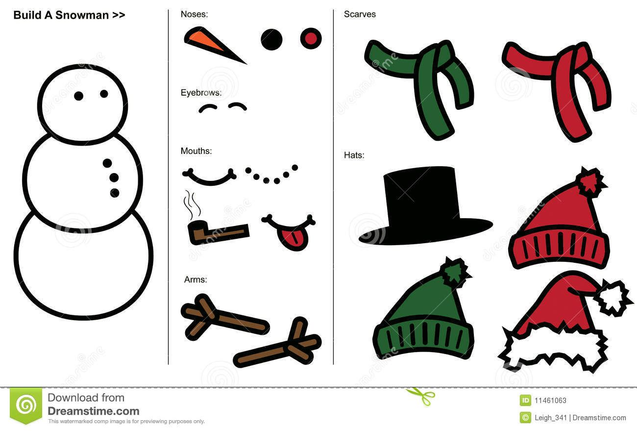 Snowman Hat And Scarf Template Hat Template Snowman Hat