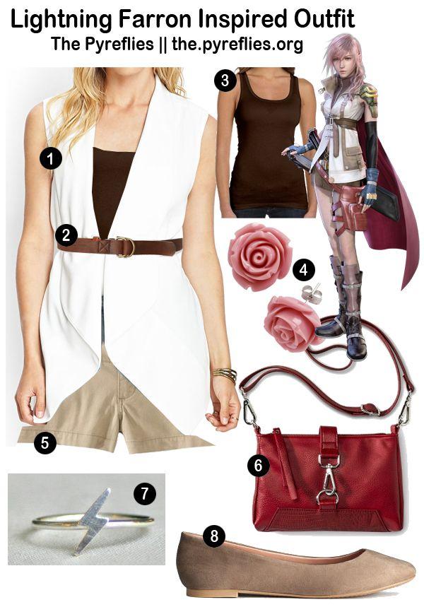 Final Fantasy Fashion: Final Fantasy XIII: Lightning Farron Inspired Outfit Look