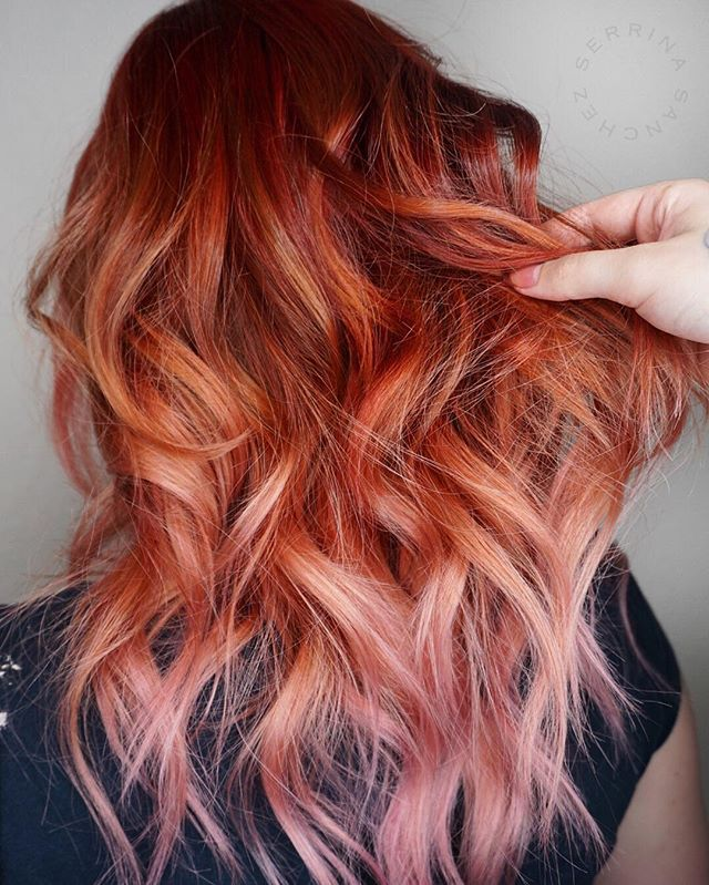 Copper Pink Hair With Images Hair Styles Ginger Hair Red