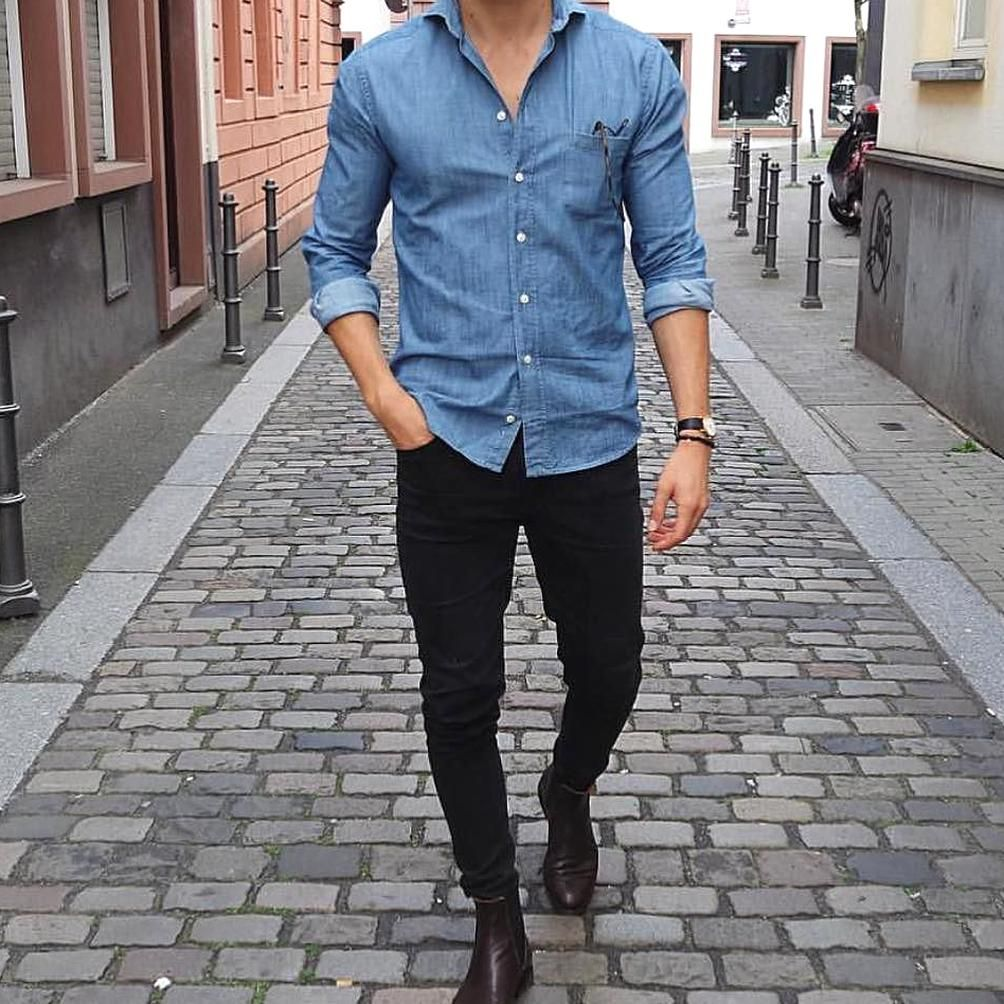 Pin By Audrey Myla On My Collections In 2020 Black Jeans Men Jeans Outfit Men Black Jeans Outfit [ 1004 x 1004 Pixel ]
