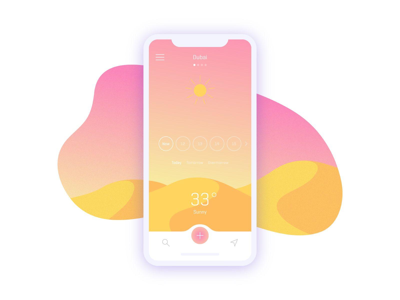 Weather App Concept Interface utilisateur, Web design et