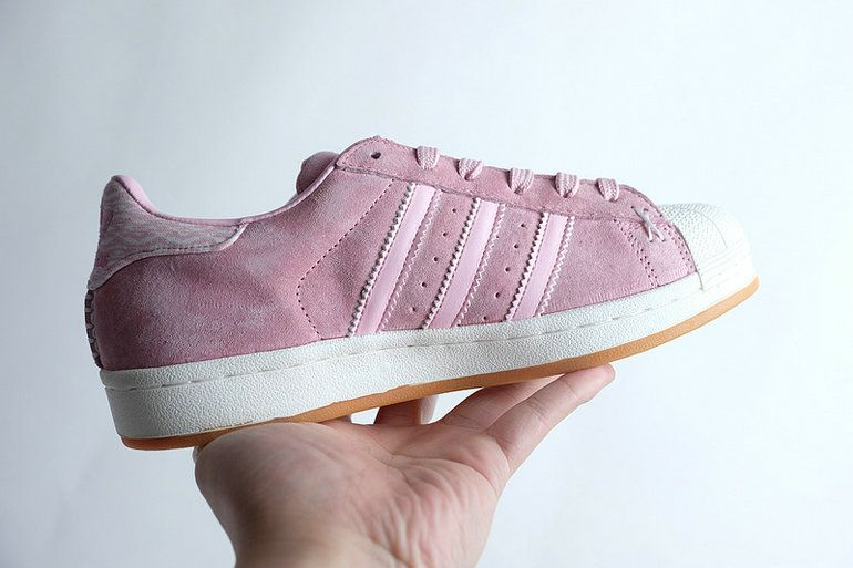 Womens Adidas Originals Superstar W White Pink S76155 Running Shoes s76155