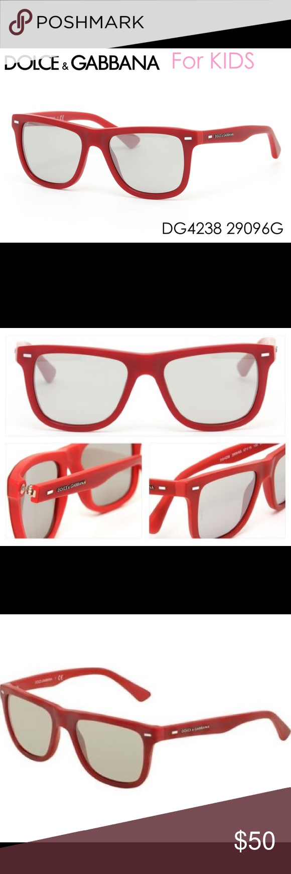 9700376d7d2 Dolce and Gabbana Kids Sunglasses Dolce and Gabbana Kids Sunglasses Opticals✨  Matte Red Frame