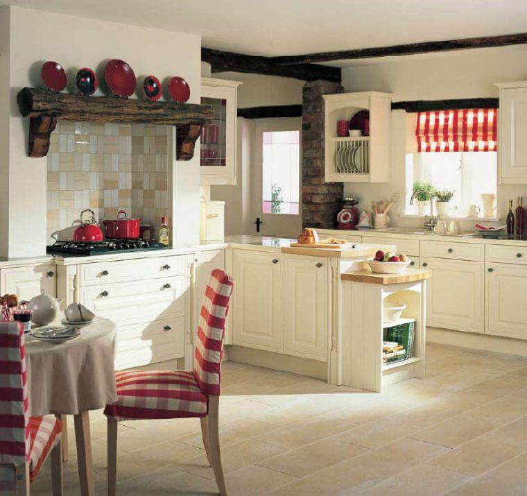 Cuisine Cottage Maison Style Anglais Decoration Etagere Bois Brut