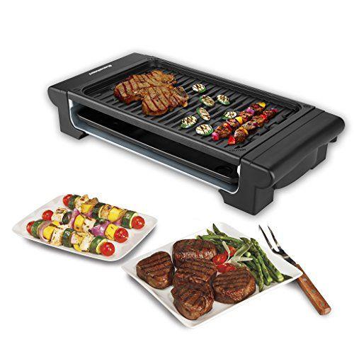 excelvan elektro tischgrill bbq barbecue elektrogrill mit gerippter grillfl che 1400w schwarz. Black Bedroom Furniture Sets. Home Design Ideas