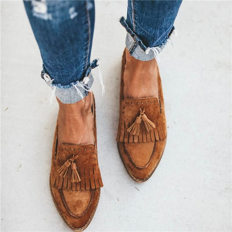 Ladies Fashion Tassel Flat Slippers 1