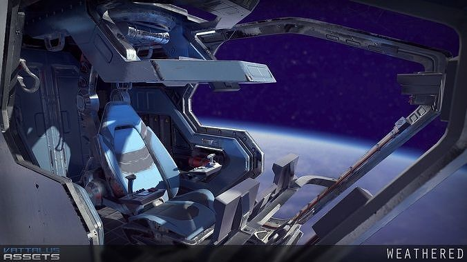 Sci Fi Fighter Cockpit 4 3d Model Cgtrader Spaceships In 2019