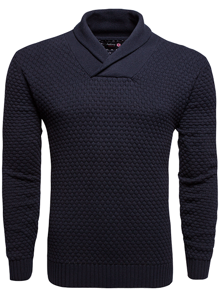 Anthony Of London navy waffle texture sweater (M)