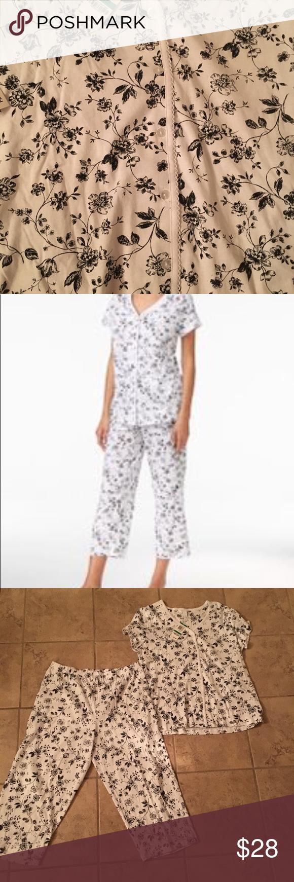 677fa7b6723e Charter Club - size P/L Pajama Set,NWT Charter Club - size P/L petite large  Loop-trimmed Top And Cropped Pants Pajama Set, NWT Only At Macy's #7PA  smoker ...