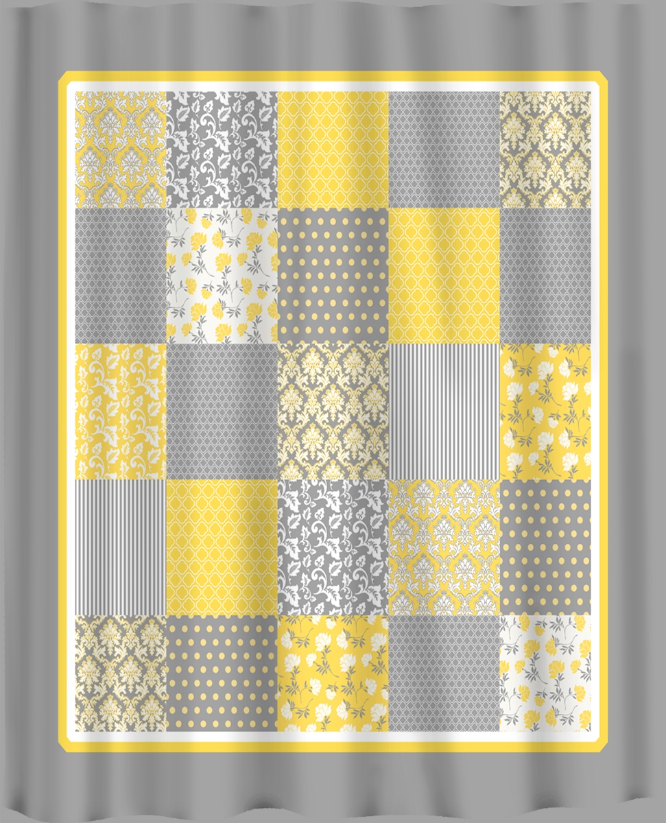 yellow curtains french country patchwork shower curtain yellow grey and white possible. Black Bedroom Furniture Sets. Home Design Ideas