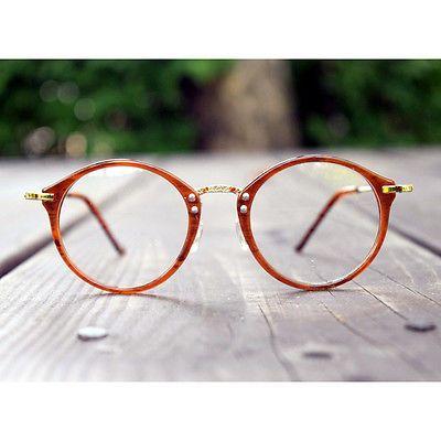 a44992cab0 1920s Vintage oliver retro eyeglasses 23R10 Brown round frames eyewear  rubyruby