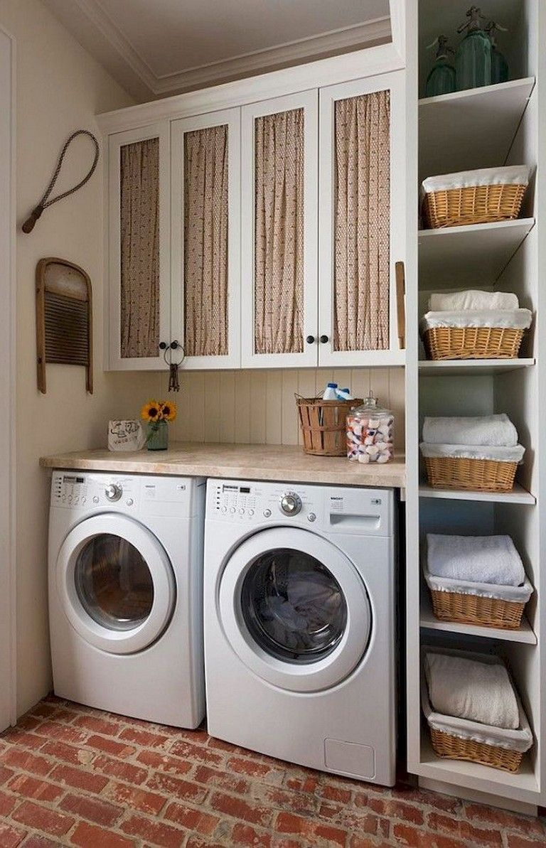 25 great modern farmhouse small laundry room ideas on extraordinary small laundry room design and decorating ideas modest laundry space id=48580