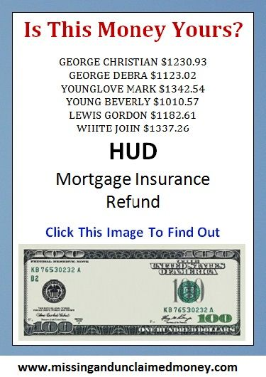 Pin By Metavon Ventur Egroup Inc On Unclaimed Money Fha Mortgage