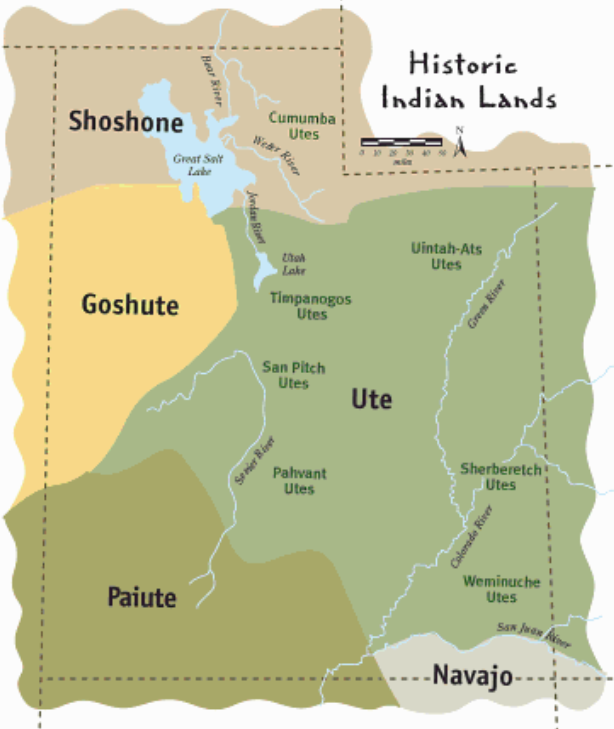 Utah Indian Tribes - Google Search  Treasure  Utah Map -9708