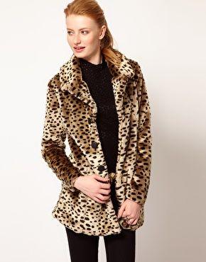 vero moda leopard jakke