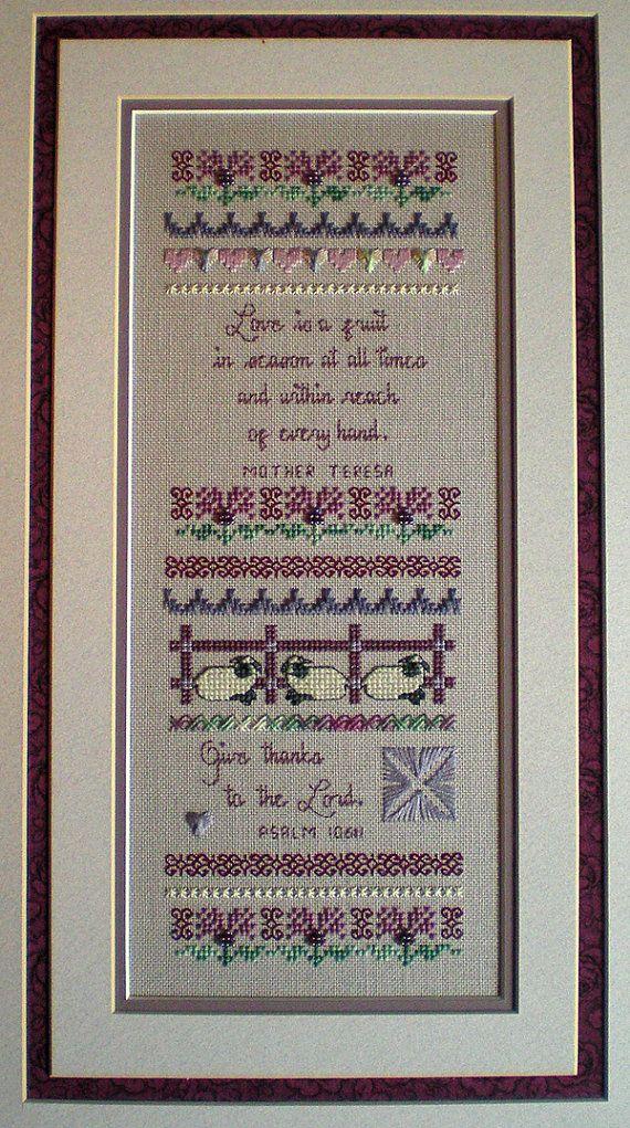 PATTERN ONLY -- Cross Stitch Sampler -- Spring's Grace Sampler...
