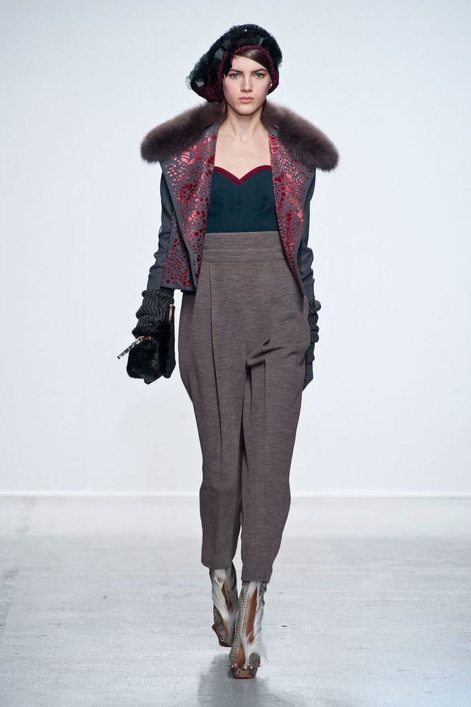 It's Hip to Be Square at John Galliano for Fall: If Bill Gaytten has any say in the matter, your Fall closet will be stocked with muted shades of gray, mustard, teal, rust, and cream.