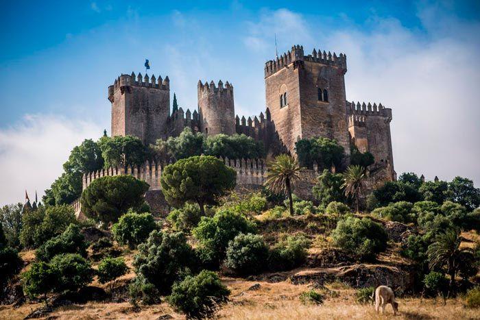 Castillo De Almodovar Del Rio Ubicado En Una Colina Cerca Del Rio Guadalquivir En El Almodovar Del Rio Castillo Medieval Castillos Castillos Del Loira