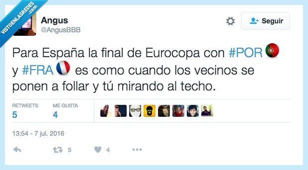 La final de la Euro para España, por @AngusBBB   Gracias a http://www.vistoenlasredes.com/   Si quieres leer la noticia completa visita: http://www.estoy-aburrido.com/la-final-de-la-euro-para-espana-por-angusbbb/